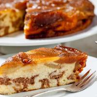עוגת גבינה עם ממרח השחר העולה ותפוחים